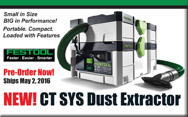 Pre-Order New CT SYS Dust Extractor