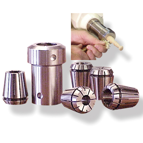 BEALL COMPLETE COLLET CHUCK SET - 1 X 8 TPI