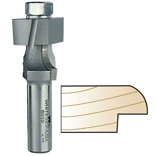 WHITESIDE #6010 RECESSED DOOR EDGE BIT - 1/2 INCH SH X 1-1/8 INCH CL