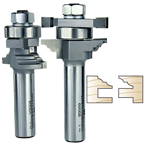 WHITESIDE #6006 CLASSICAL STILE & RAIL BIT SET - 1/2 INCH SH