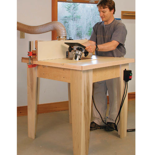 Project Plans - FINE WOODWORKING OPEN BASE ROUTER TABLE PLAN